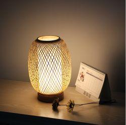 Ручной работы из бамбука с регулируемой яркостью настольный светильник для спальни для оптовых Lampshade