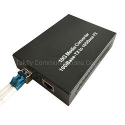 10g SFP Dlc RJ45 10g zum Faser-Media-Konverter