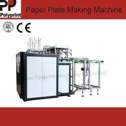 数え、スタッキングの機械を形作る高速使い捨て可能で環境に優しい軽食のファースト・フードの紙皿の皿