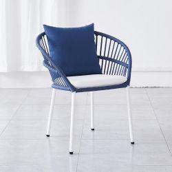 紫外線抵抗力がある屋外の庭のホーム家具の標準的なテラス浜の藤の柳細工の余暇のバルコニーのある椅子のChaiseのラウンジ