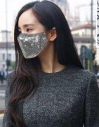 Moda Diamante Luxo Rhinestone Jóias Parte Máscara para prendas de Natal