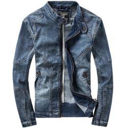 Peça de vestuário de moda Skinny Aplicar Mens Deim Casacos homens Jean cubra o comércio por grosso