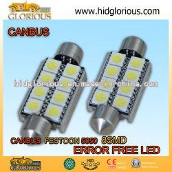 5050-8SMD-36 mm LED Coche Embellecedor Canbus Universal para lámpara de luz de los coches de coches