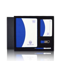 مخصص مخصص اثنان جلد مفكرة أعمال مخطط سلاسل مفاتيح ترويجية و مجموعة هدايا PEN للهدايا الترويجية