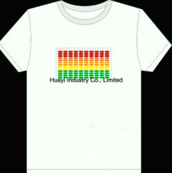 Leuchtende Weiß-T-Shirts EL-LED