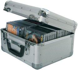 تخزين منظم قياسي لعلبة أقراص مضغوطة من الألومنيوم خفيف الوزن كبير حقيبة حمل الصندوق تحمل حقائب قوية من الألومنيوم