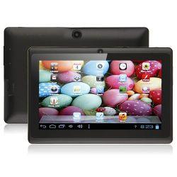 7インチQ88は容量性スクリーン512mのRAM 4G否定論履積の抜け目がないウェブ画像のWiFiのタブレットカメラのアンドロイド4.0.3のタブレットのPCのAllwinner A13 1.0GHz二倍になる