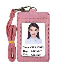 Роскошный дизайн верхней части продажи высококачественной PU стропом с ID владельца карты