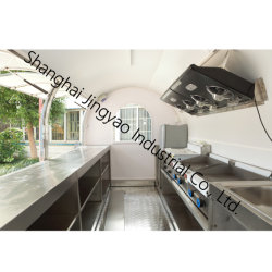 Equipamentos completos Veículo Alimentar para venda restaurante de fast food sobre rodas / Aço inoxidável cozinha móveis / Mobile