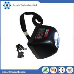 Minero Minería de la lámpara de luz LED inalámbrico con pantalla de 4500 Lux 1W de luz de casco de la tapa de seguridad Alto Brightnesslamp antorcha
