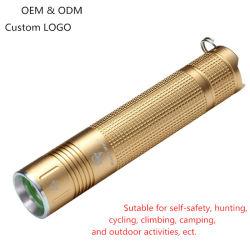 10W helder Flitslicht 18650 Navulbare LEIDENE van de Batterij MiniToorts voor (het Gouden) Onderzoek van de Berg