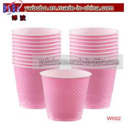 حفلة عيد ميلاد في كوبين بلاستيك وردي اللون 20CT منتجات حفلة إمداد منتجات حفلات الزفاف (W1002)