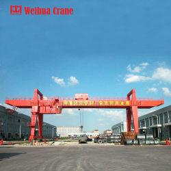 Weihua 100トンの移動式二重ビームガントリークレーン片持梁クレーン