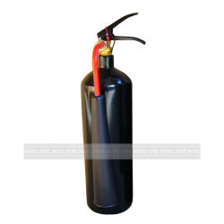 3kg de dióxido de carbono el extintor en color negro.