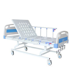 Низкая стоимость по высоте трех функций больничной койки вручную с помощью рукоятки из нержавеющей стали