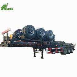 40FT trois essieux récipient de transport semi-remorque squelettique Cimc semi-remorque