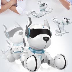 سعر جيد مع صوت عالي المستوى تحكم الكلام Leidy Dog الحيوانات الروبوت ألعاب وظيفة كاملة واقعية الكلب الآلي بلص اللعوب