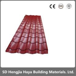 Chapas de aço galvanizado/folhas de cobertura de ferro de chapa de aço com revestimento de cor para a construção