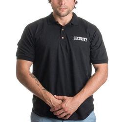 Sicherheits-und Polizei-Firmenzeichen-Drucken-BaumwollBreathable Polo-Hemd 100%