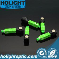 Sc à fibre optique Adaptateur nu avec boîtier vert