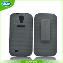 Camada dupla para Serviço Pesado resistente a armadura de disco híbrido caso de choque para a Samsung Galaxy Mini S4