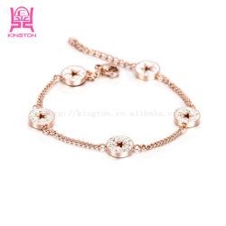 女の子のための新しい星の方法デザイン卸売の宝石類のステンレス鋼のブレスレット