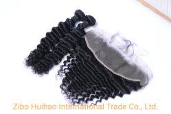 Venda por grosso de fábrica sedoso onda profunda cabelo da onda de corpo reto 100% brasileira Índio Peruano Remy Virgem de cabelo humano