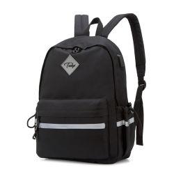 Sac à dos léger pour l'école classique résistant à l'eau de base pour un voyage Daypack décontracté avec une bouteille poches latérales