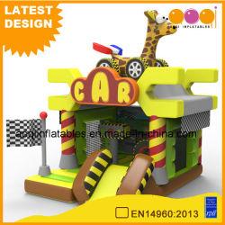 Giocattoli per bambini Giraffe Car Combo animale gonfiabile Bouncer Playhouse con Vetrino (AQ01782)