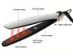 مكواة الشعر المسطحة السريعة الكهربائية ذات الملصق الخاص جيد بالأشعة تحت الحمراء