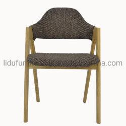 A mediados de siglo moderno salón sillas con patas de madera lateral
