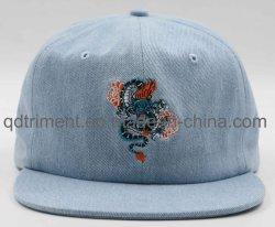 Denim Custom Embroidery, schwer Gewaschene Sportmütze mit Metallschnalle (TMB6685)