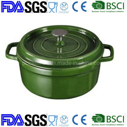 Haute capacité Nonstick 26cm casserole en fonte Four Français Néerlandais BSCI LFGB approuvé par la FDA au four