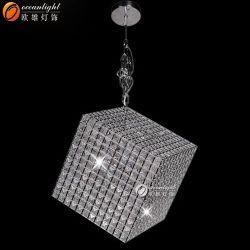 Pendente di cristallo cubico trasversale Om55003 del bordo dell'acciaio inossidabile