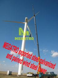Megatro exportado el acero galvanizado y dolido el viento de la torre de acero