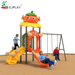 2018 Nova série de morango piscina pequena equipamentos de playground de plástico Play Slide e gire para crianças