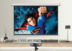 """4 3 100 Manuel de """" tirer vers le bas de l'écran de projection HD projecteur blanc mat"""