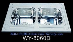 Le matériel en acier inoxydable et de traitement de surface en acier inoxydable poli genou exploité le lavage des mains évier Wy-8060D