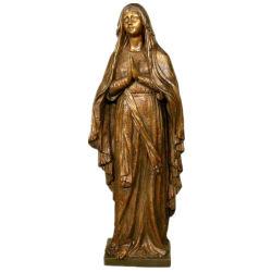Artesanía de metal Virgen Madre María, la estatua de bronce de la decoración de jardín