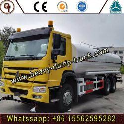 Fornitore caldo della Cina di prezzi 15000-20000 litri di HOWO 6X4 del combustibile dell'acqua di camion di autocisterna