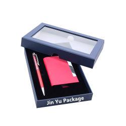 Classic Janela elegante caixa de armazenagem de embalagens de papel caso