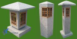 Le Japon style lanterne gris granit naturel pour l'extérieur/Jardin