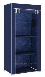 Structure unique de vêtements de toile Armoire Armoire étagères Organisateur de stockage de la pendaison (FW-45B)