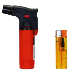 Gás de plástico grande Cigarro Torch Jet Isqueiro churrascos Fh-906