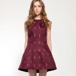 女性Summer Wine Print Sleeveless多ドリルの火炎信号の服