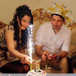 Hot Festival Happy Birthday stade de la décoration intérieure de la glace froide Sparking bougie nouvelle année fête de mariage Photographie de Noël