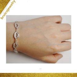 Charmant Bijoux zircone synthétique en forme de coeur bijoux Charm 925 Sterling Silver Bracelet