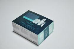 Silver Boîte de papier de paquet de papier aluminium boîte avec une bonne impression UV Timbre chaud sur la surface