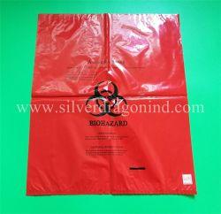 Sac de déchets biologiques dangereux autoclavables en PP rouge pour les déchets des hôpitaux de l'emballage