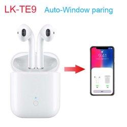 Lk-Te9 Tws Bluetooth 5.0 Oortelefoons met de Automatische Pop-up Draadloze Hoofdtelefoon van de Functies van Vensters